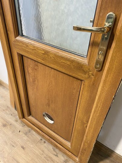 UPVC-LIGHT-GOLDEN-OAK-BROWN-BACK-DOOR-PVCU-NARROW--9