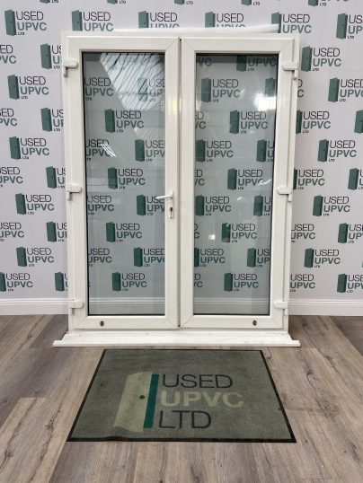 UPVC-PVCU-FRENCH-DOORS-WHITE-TALL-USED-DOUBLE-GLAZ